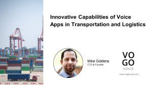 Voice Apps in Transportation and Logistics